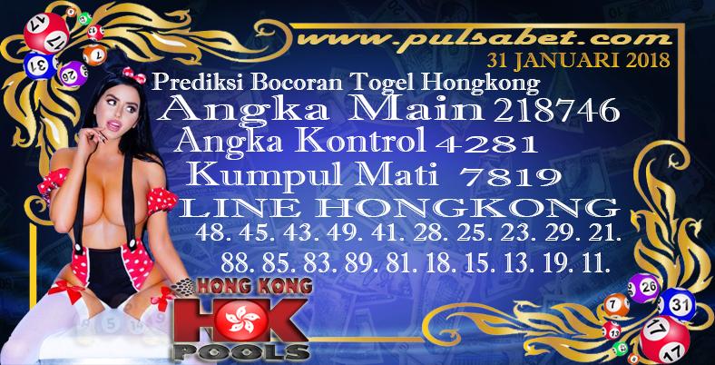 Prediksi Togel Jitu Hongkong Kamis 31 Januari 2019