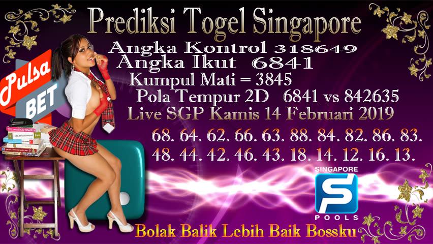 Prediksi Togel Jitu Singapore Kamis 14 Februari 2019