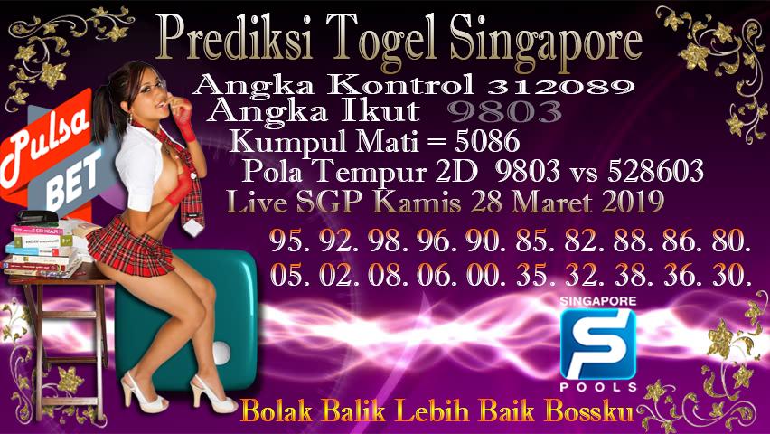 Prediksi Togel Jitu Singapore Kamis 28 Maret 2019