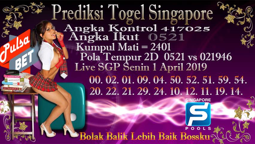 Prediksi Togel Jitu Singapore Senin 1 April 2019