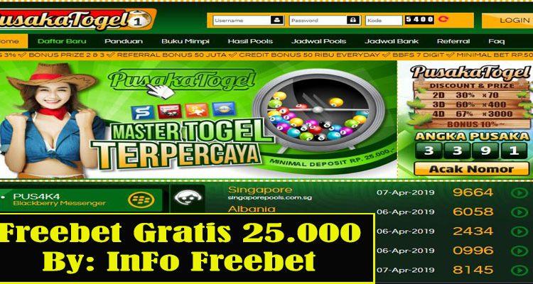 Freebet Gratis Pusaka365 Senilai 25.000