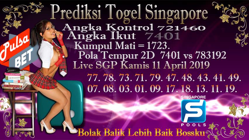 Prediksi Togel Jitu Singapore Kamis 11 April 2019