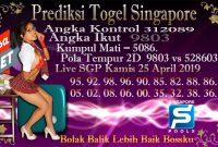 Prediksi Togel Jitu Singapore Kamis 25 April 2019