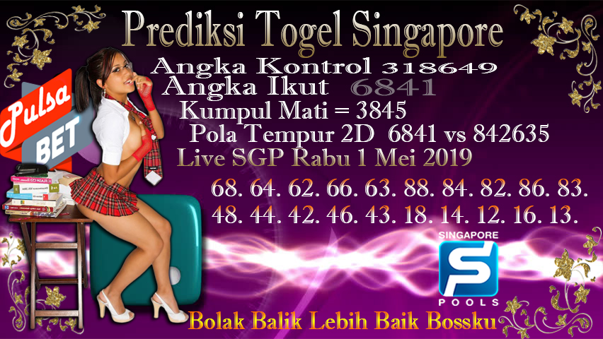 Prediksi Togel Jitu Singapore Rabu 1 Mei 2019