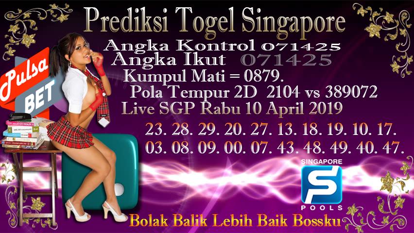 Prediksi Togel Jitu Singapore Rabu 10 April 2019