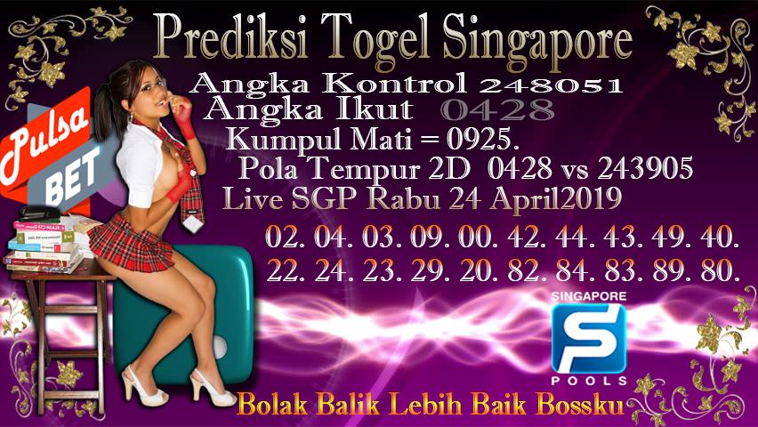 Prediksi Togel Jitu Singapore Rabu 24 April 2019