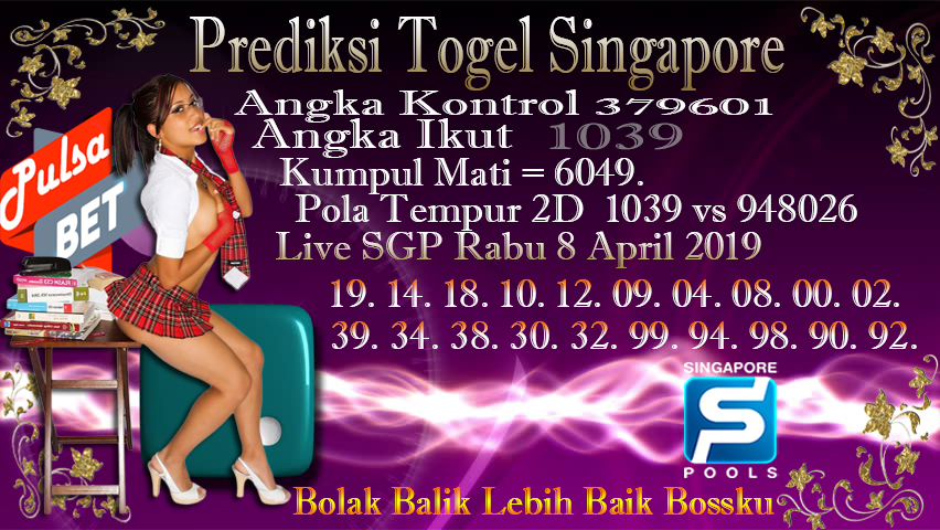 Prediksi Togel Jitu Singapore Rabu 8 April 2019
