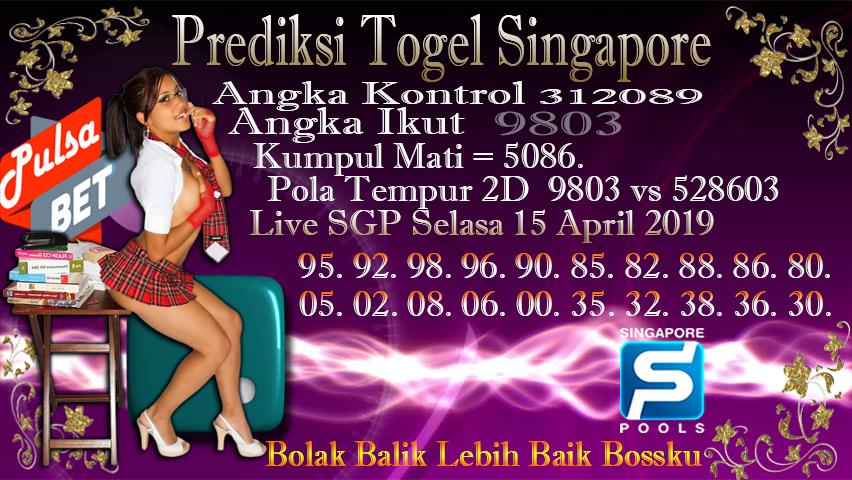 Prediksi Togel Jitu Singapore Selasa 15 April 2019